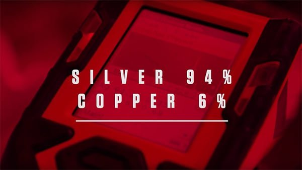 A slide that says silver 94% copper 6%
