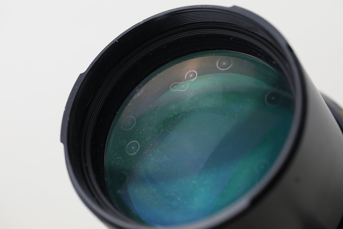 Camera lens with fungus patches
