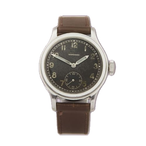 Vintage Longines Watch with brown leather strap