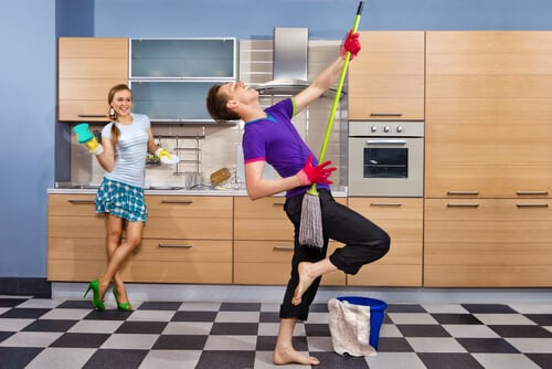 Housework couple